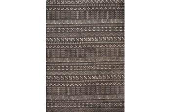 96X120 Rug-Graphite Print Block Lines