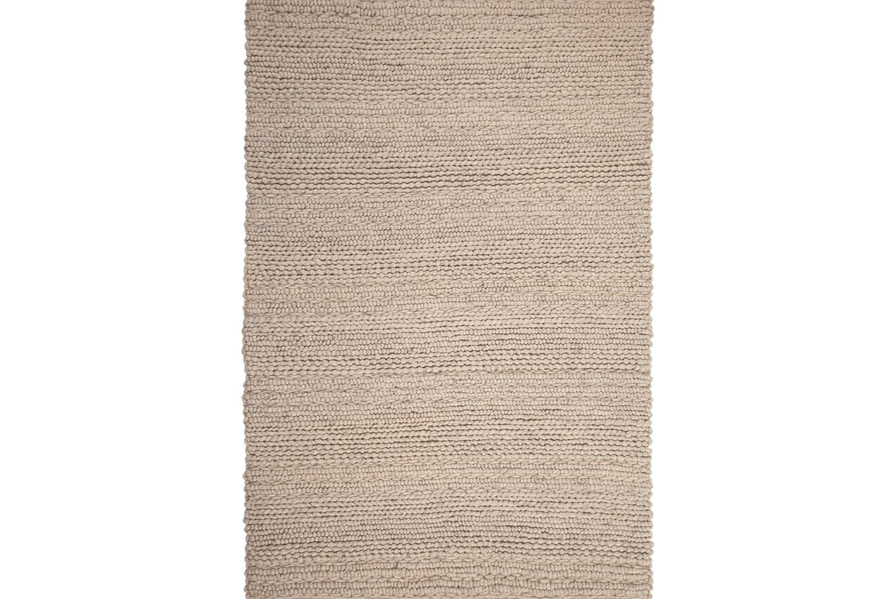 60X96 Rug-Taupe Chunky Wool Knit