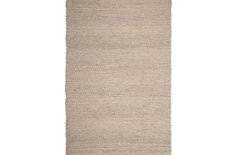 96X120 Rug-Taupe Chunky Wool Knit