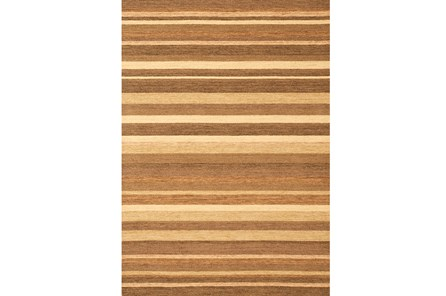 60X90 Rug-Brown & Tan Gobi Colorblock