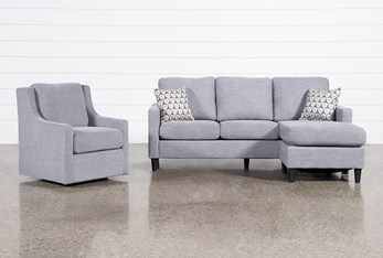 Stark Sofa With Reversible Chaise And Swivel Chair