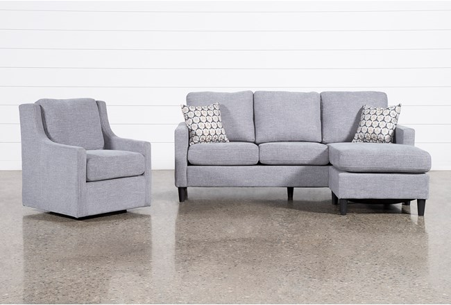 Stark Sofa With Reversible Chaise And Swivel Chair - 360