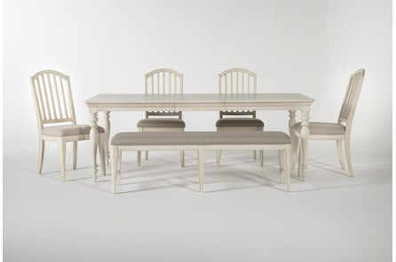 Kincaid 6 Piece Rectangle Dining Set With Backless Dining Bench - Main