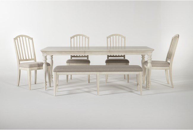 Kincaid 6 Piece Rectangle Dining Set With Backless Dining Bench - 360