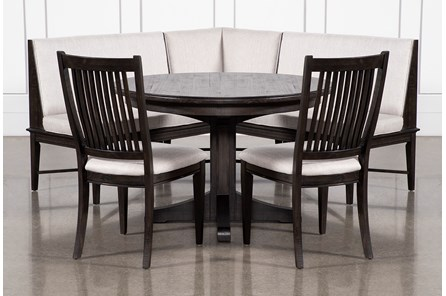 Valencia 4 Piece Banquette Dining Set With Valecia Upholstered Seat Chair