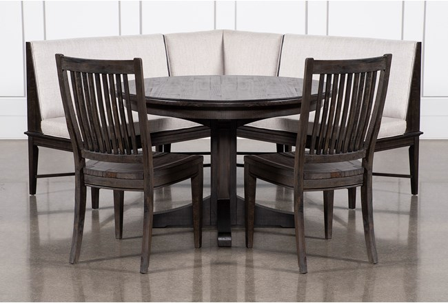 Valencia 4 Piece Banquette Dining Set With Valencia Chair - 360