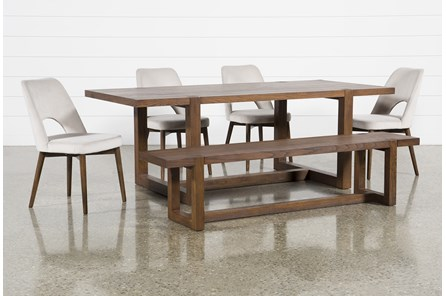 Luna 6 Piece Dining Set With Zuma Grey Chair