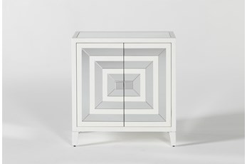 Hailey II 2-Door Mirrored Accent Chest