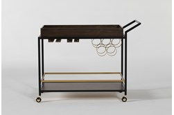 Baldwin Walnut And Iron Bar Cart