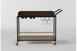 Baldwin Walnut And Iron Bar Cart