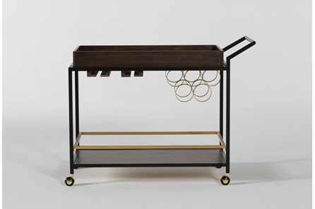 Baldwin Walnut And Iron Bar Cart - Main
