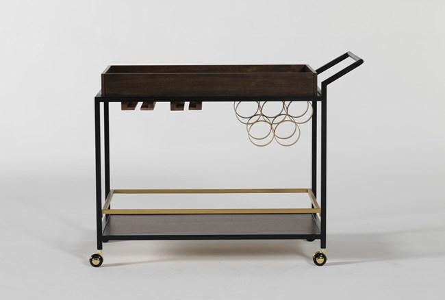 Baldwin Walnut And Iron Bar Cart - 360