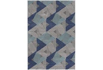 5'x7' Rug-Trigon Grey/Blue