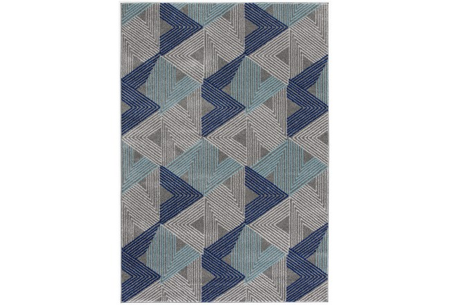 5'x7' Rug-Trigon Grey/Blue - 360