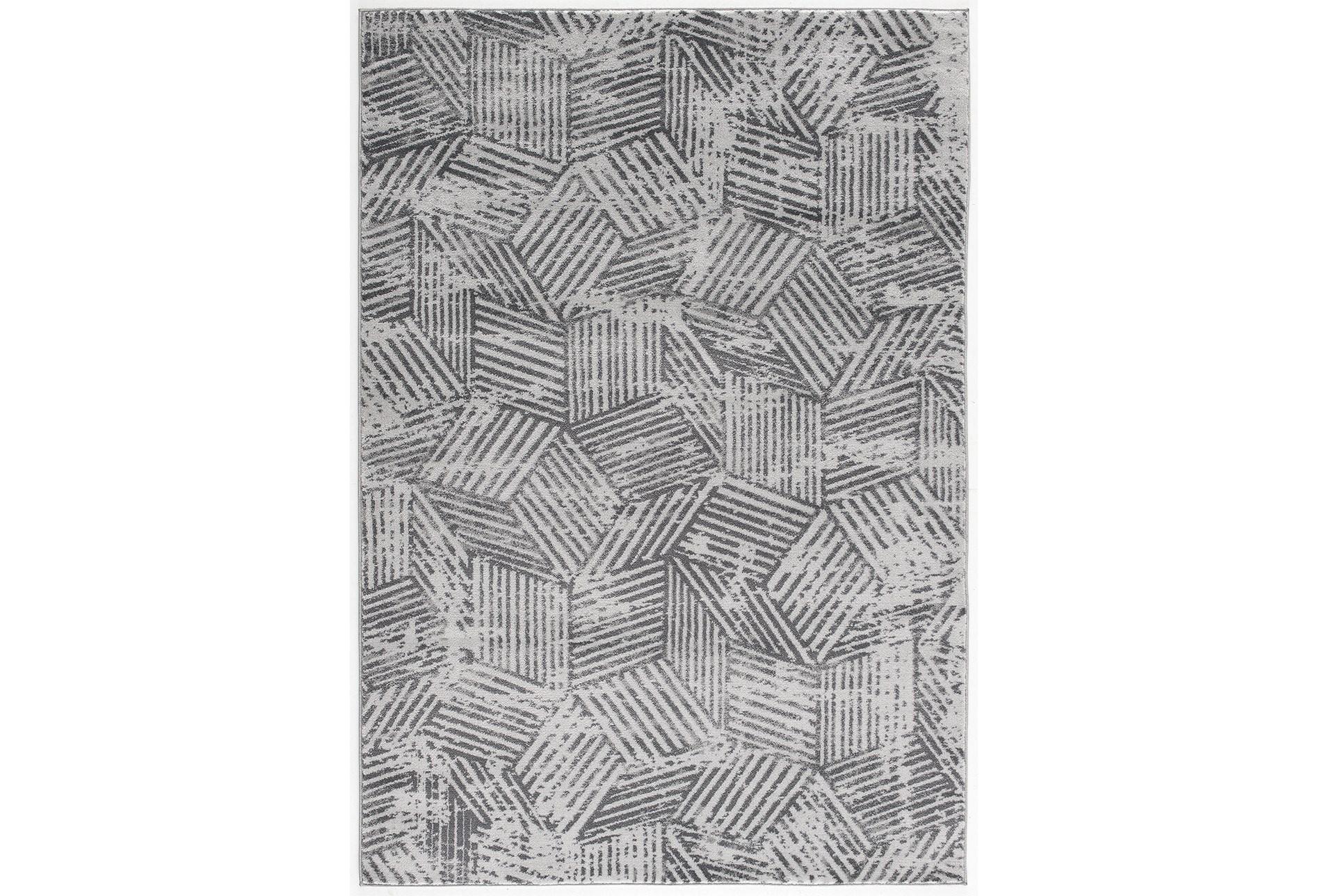 94X126 Rug-Cubix Grey | Living Spaces