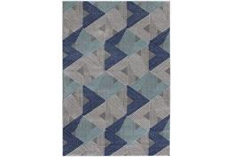 """7'5""""x10'5"""" Rug-Trigon Grey/Blue"""