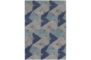 "7'5""x10'5"" Rug-Trigon Grey/Blue"