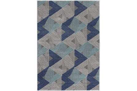 94X126 Rug-Trigon Grey/Blue