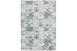 94X126 Rug-Sawtooth Blue