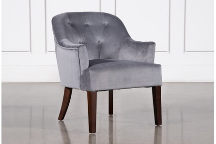 Amy Grey Accent Chair