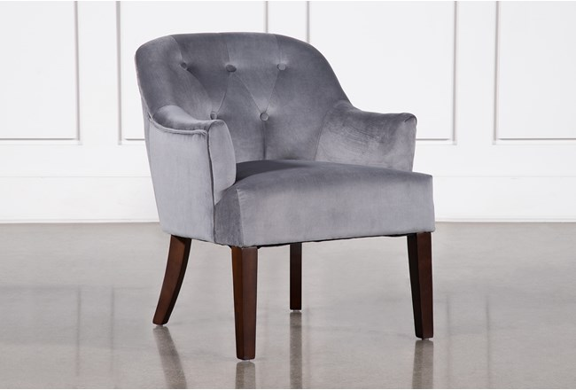 Amy Grey Accent Chair - 360
