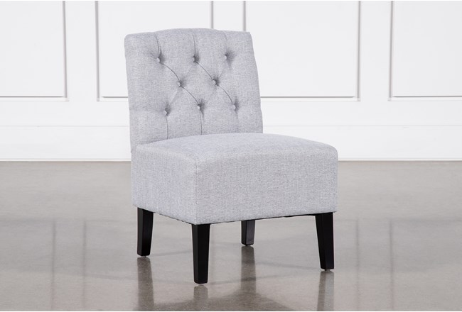 Desi Light Grey Accent Chair - 360