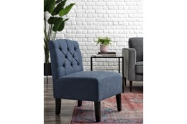 Desi Blue Accent Chair