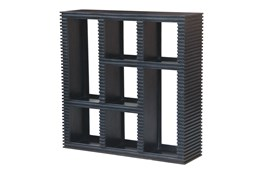 Black Corrugated 7 Hole Bookcase