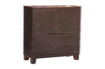 Black Corrugated 2 Door Cabinet