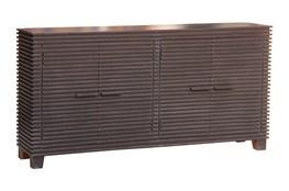 Black Corrugated 4 Door Sideboard