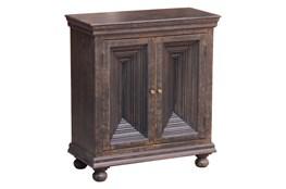 Antique Black Crown Mold Cabinet