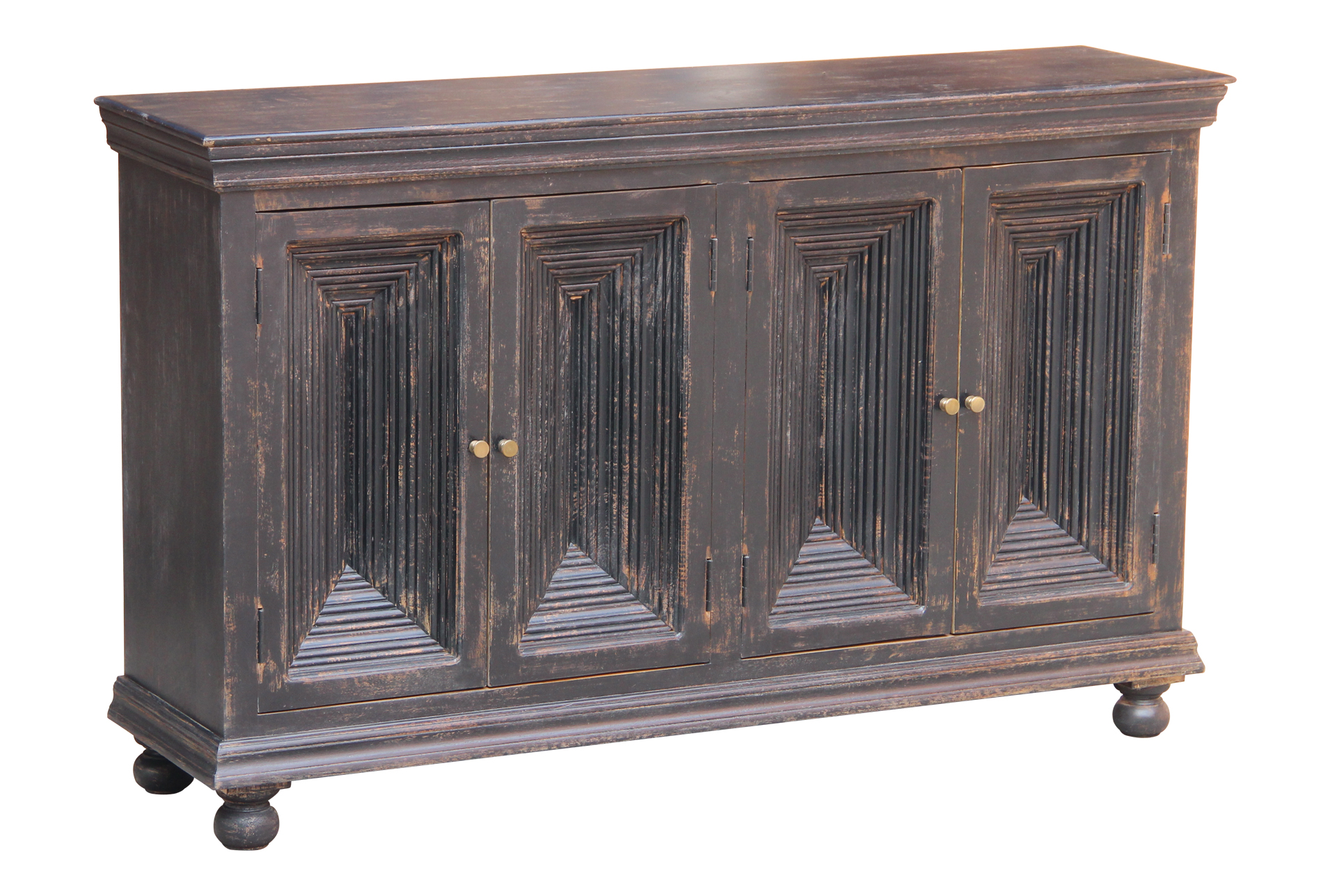 Picture of: Antique Black Crown Mold 4 Door 80 Sideboard Living Spaces