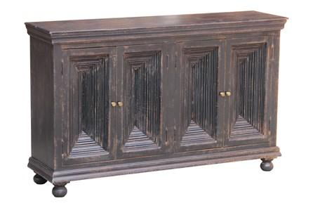 Antique Black Crown Mold 4 Door 80