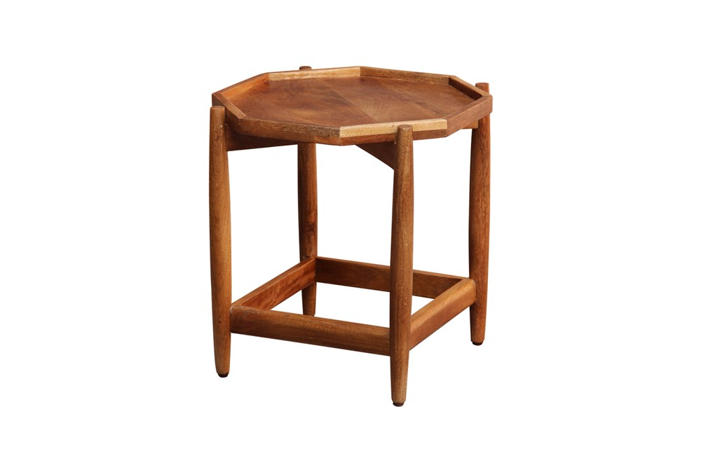 Hexagon Wood Accent Table