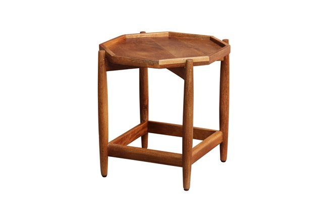 Hexagon Wood Accent Table  - 360