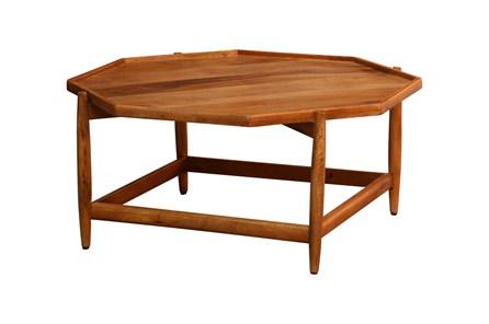 Hexagon Wood Coffee Table