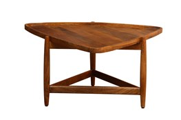 Triangle Wood Coffee Table