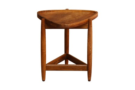 Triangle Wood Accent Table