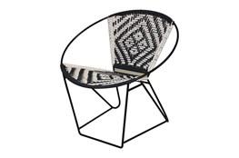 Metal Rope Black + White Chair