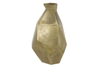 21 Inch Gold Textured Indent Vase