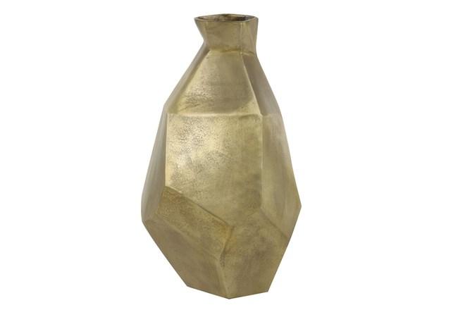 21 Inch Gold Textured Indent Vase - 360