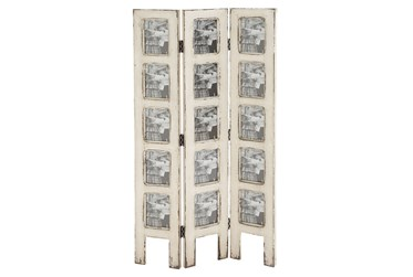 51 Inch White Wash Multi Picture Frame Stand