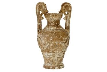 22 Inch Distressed Terracotta Vase