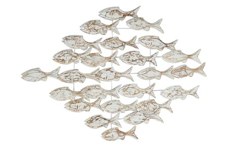 26 Inch Swimming Fish Wall Art