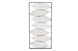 22 Inch Vertical Leaf Wall Art