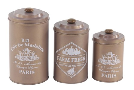 Set Of 3 Tin Canisters - Main