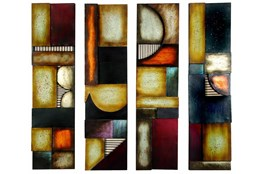31 Inch Rectangle 4 Panel Wall Art