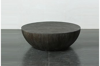 Dark Elm Drum Coffee Table