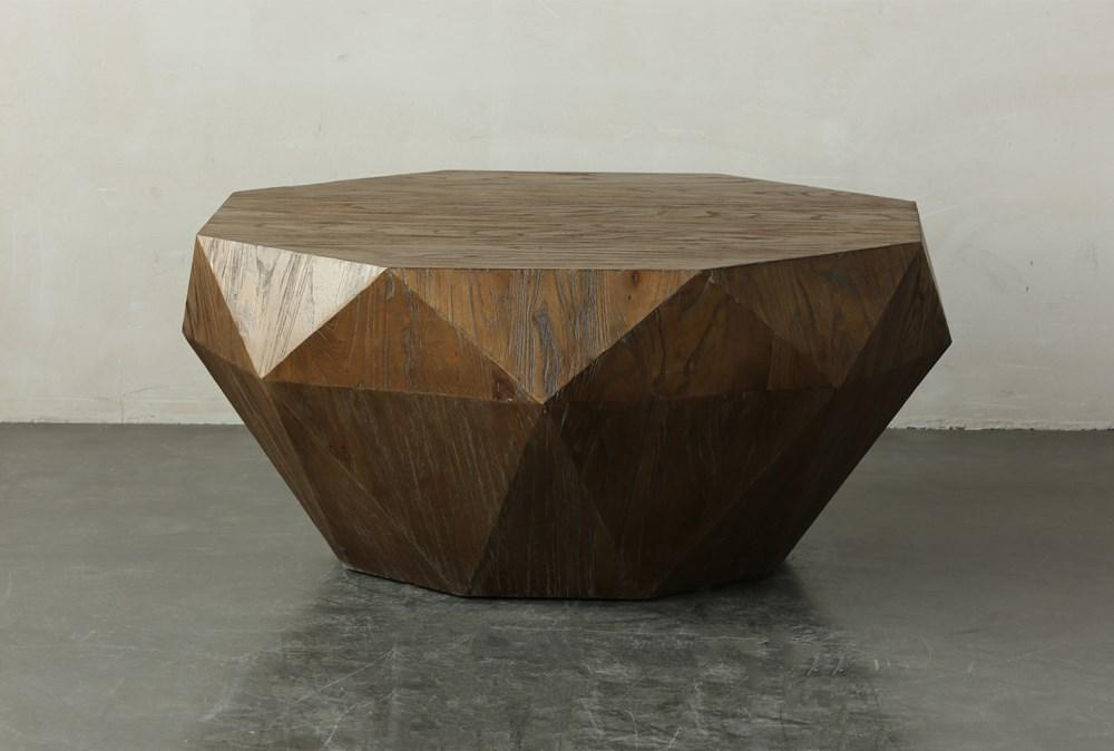 Elm Geometric Drum Coffee Table