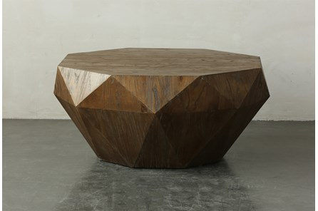 Elm Geometric Drum Coffee Table